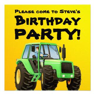 Green Tractor Invites