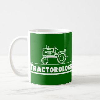 Green Tractor Ologist Basic White Mug