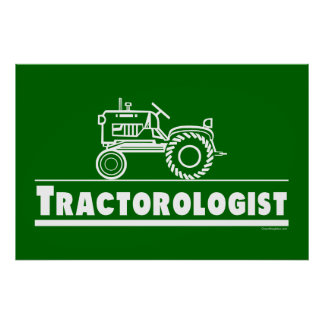 Green Tractor Ologist Poster