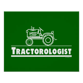 Green Tractor Ologist Posters