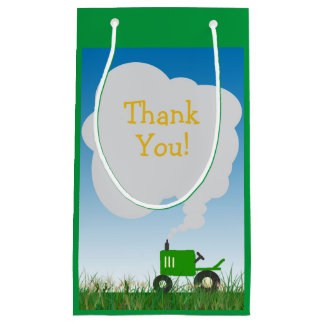 Green Tractor Party Bag