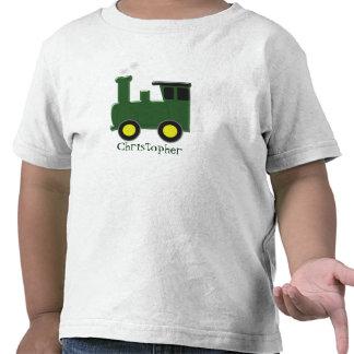 Green Train Just Add Name T Shirts