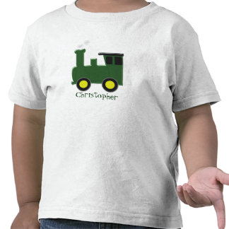 Green Train Just Add Name T Shirts