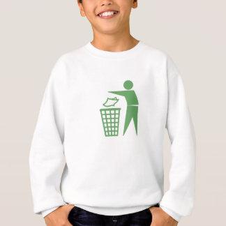 Green Trash Can Sign Sweatshirt