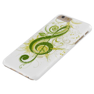 Green Treble Clef Barely There iPhone 6 Plus Case