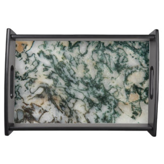 Green Tree Agate Pattern Serving Tray