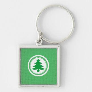 Green Tree and Polkadots Key Chains