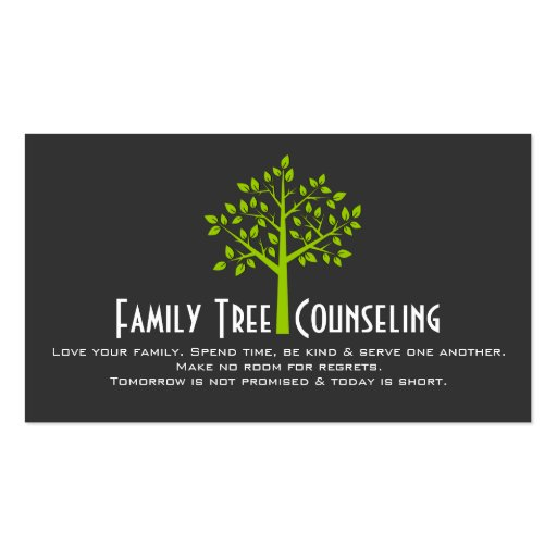 Green Tree Family Counseling Life Coach Spiritual Pack