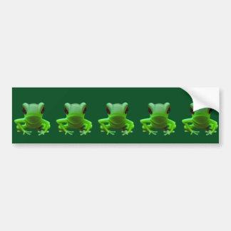 Green Tree Frog Bumper Stickers