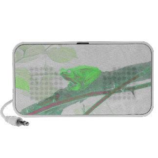 Green Tree Frog Doodle Speaker