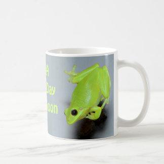 Green Tree Frog Image Basic White Mug