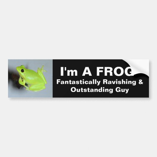 Green Tree Frog Image Bumper Stickers