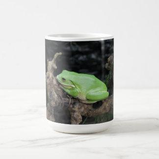 Green Tree Frog Coffee Mugs
