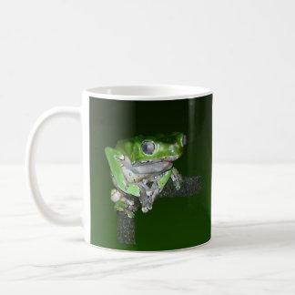 green tree frog basic white mug