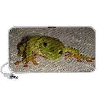 Green Tree Frog Mini Speakers