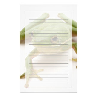 Green Tree Frog Customized Stationery