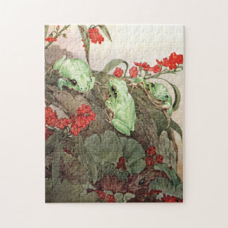 Green Tree Frogs by E. J. Detmold Puzzle