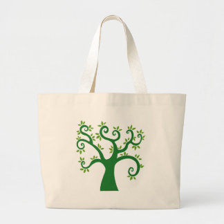 Green Tree graphic causes environment fairytale Tote Bags