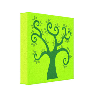 Green Tree graphic causes environment fairytale Canvas Prints
