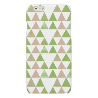 Green Tree Kale Greenery Triangle Geometric Mosaic