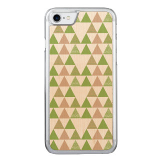 Green Tree Kale Greenery Triangle Geometric Mosaic Carved iPhone 8/7 Case