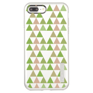 Green Tree Kale Greenery Triangle Geometric Mosaic Incipio DualPro Shine iPhone 8 Plus/7 Plus Case
