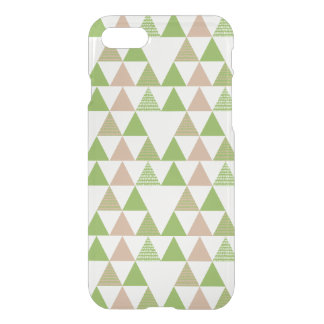 Green Tree Kale Greenery Triangle Geometric Mosaic iPhone 8/7 Case