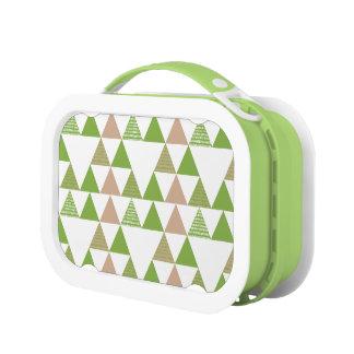 Green Tree Kale Greenery Triangle Geometric Mosaic Lunchboxes