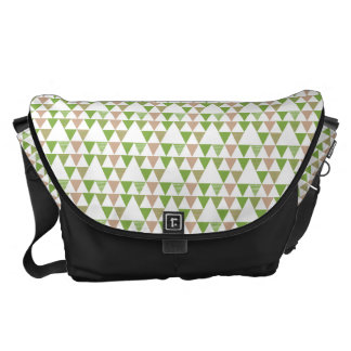 Green Tree Kale Greenery Triangle Geometric Mosaic Messenger Bags