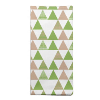 Green Tree Kale Greenery Triangle Geometric Mosaic Napkin
