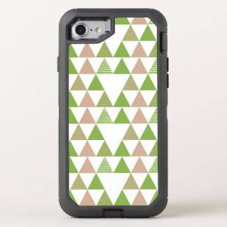 Green Tree Kale Greenery Triangle Geometric Mosaic OtterBox Defender iPhone 8/7 Case