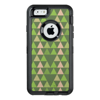 Green Tree Kale Greenery Triangle Geometric Mosaic OtterBox Defender iPhone Case