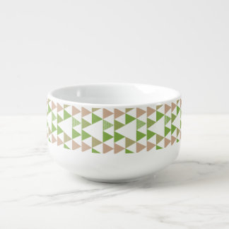 Green Tree Kale Greenery Triangle Geometric Mosaic Soup Mug
