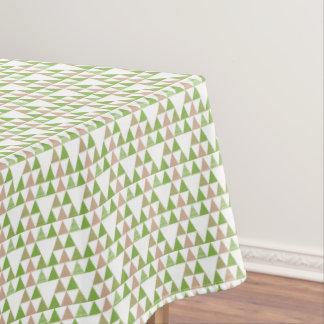 Green Tree Kale Greenery Triangle Geometric Mosaic Tablecloth