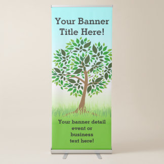Green Tree Nature Promotional business corporate Retractable Banner