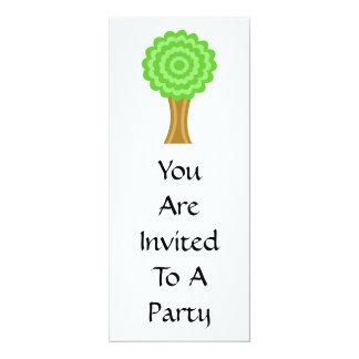 Green Tree. On white background. Custom 10 Cm X 24 Cm Invitation Card