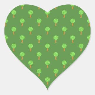 Green Tree Pattern. Sticker