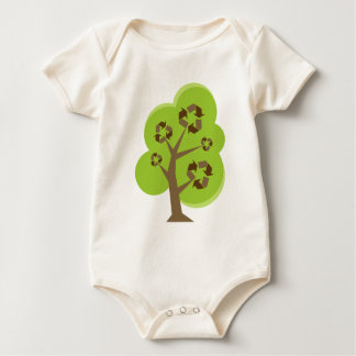 Green Tree Recycle Baby Bodysuit