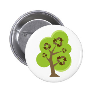 Green Tree Recycle Button