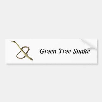 Green Tree Snake Bumper Sticker