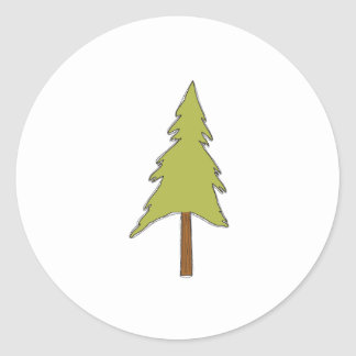 Green Tree Sticker
