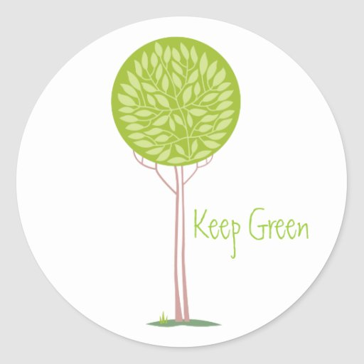 Green Tree Stickers