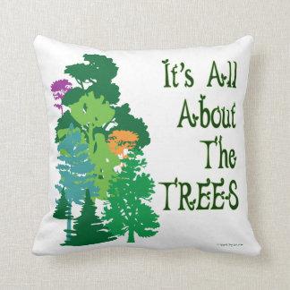 Green Trees American MoJo Pillow Throw Cushion