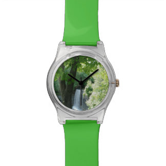 Green trees and waterfall watch