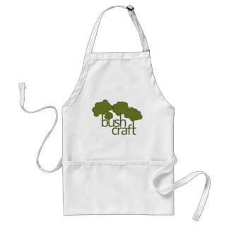 Green trees, bush craft adult apron