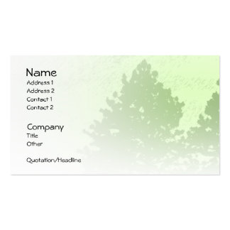 Green Trees Light Profile Card Business Card Templates