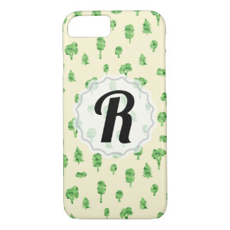Green Trees Pattern Watercolor Tree Design Spring iPhone 8/7 Case