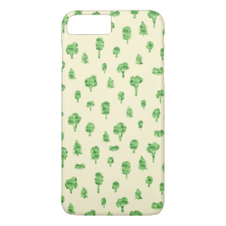 Green Trees Pattern Watercolor Tree Design Spring iPhone 8 Plus/7 Plus Case