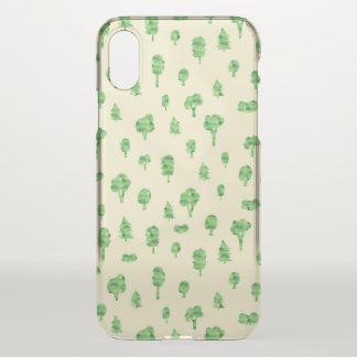 Green Trees Pattern Watercolor Tree Design Spring iPhone X Case