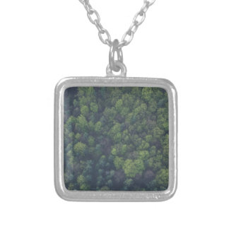 Green Trees Silver Plated Necklace